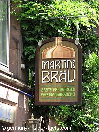 sign of the local martinsbräu beer