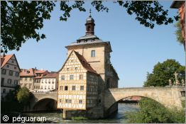 old town hall in the river regnitz
