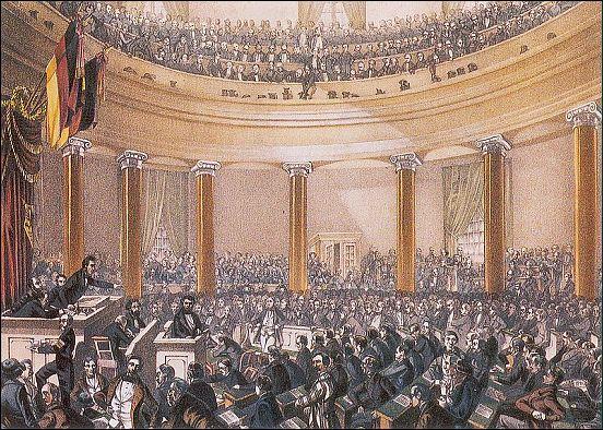 old photo of frankfurt national assembly