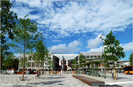 new shopping complex and city square