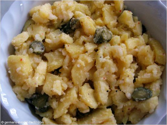 bowl with homemade potato salad