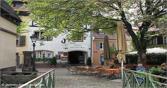 al fresco restaurant area in freiburg