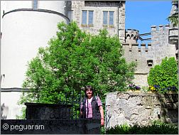 me in front of a castle