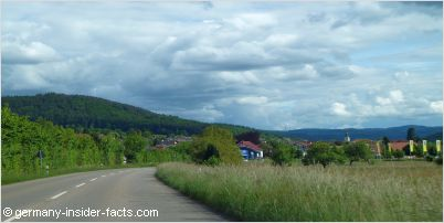 driving through the black forest