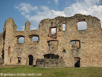details of ruin hochburg
