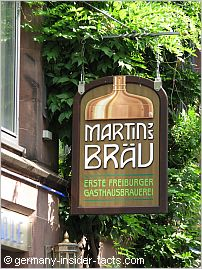 sign of the local martinsbräu beer
