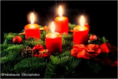 The First Advent Sunday Is Fourth Before Christmas Day 25th December An Adventskranz Wreath Usually Made Of Fir Twigs