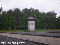 watch tower in dachau