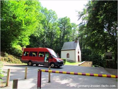 shuttle bus start at the car park