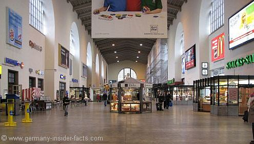 Hall at Stuttgart train station