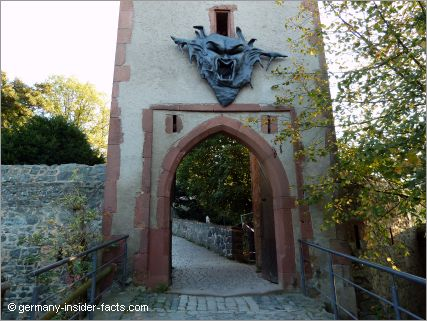 gate tower with a monster head