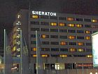 sheraton hotel at night