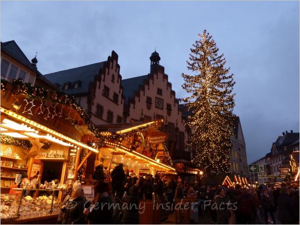 frankfurt christmas market panorama