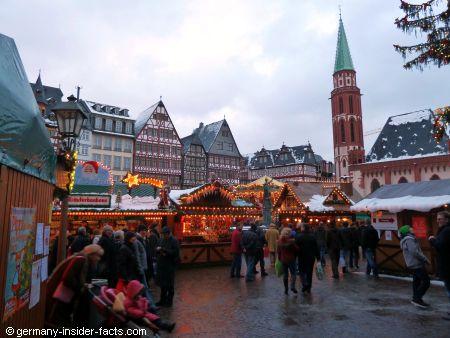 stalls of a xmas market
