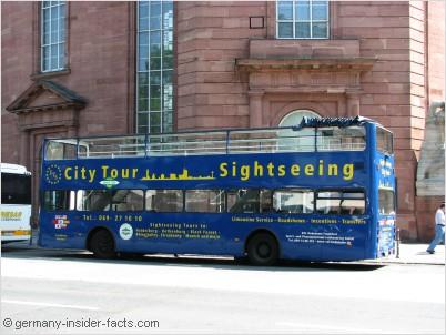 blue hop on bus