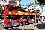 red tourist bus