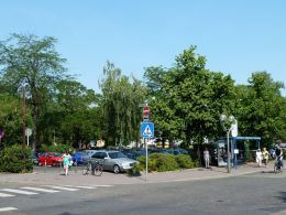 Freiheitsplatz used as car park