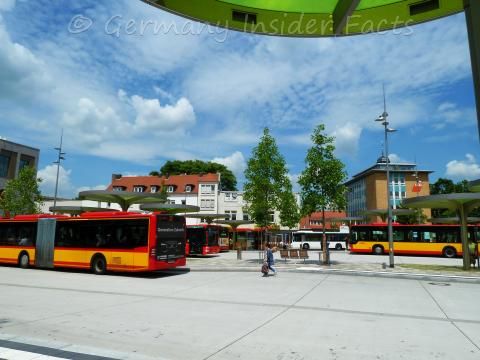 New bus station at Freiheitsplatz