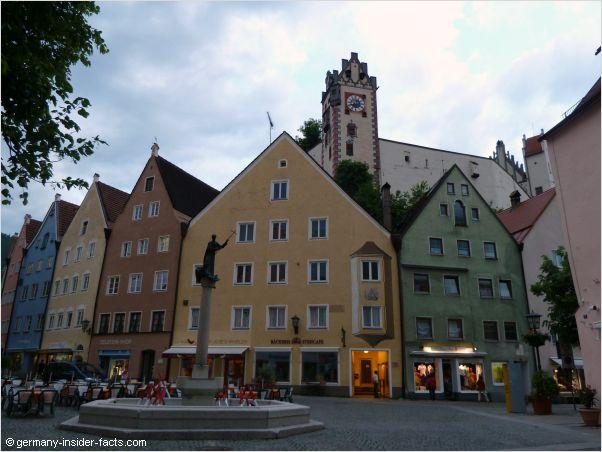 historic houses in fussen