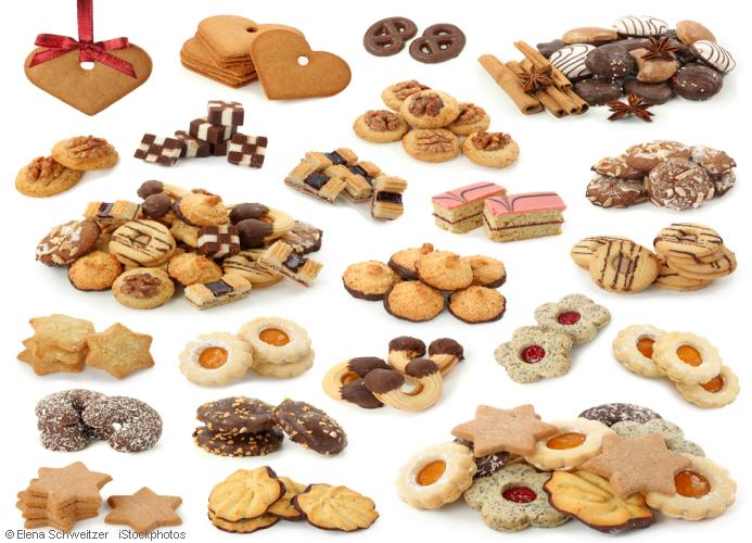 a variety of german christmas cookies