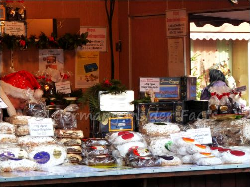 stollen stall at a christmas market