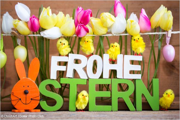 colourful happy easter