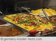 display of canteen food