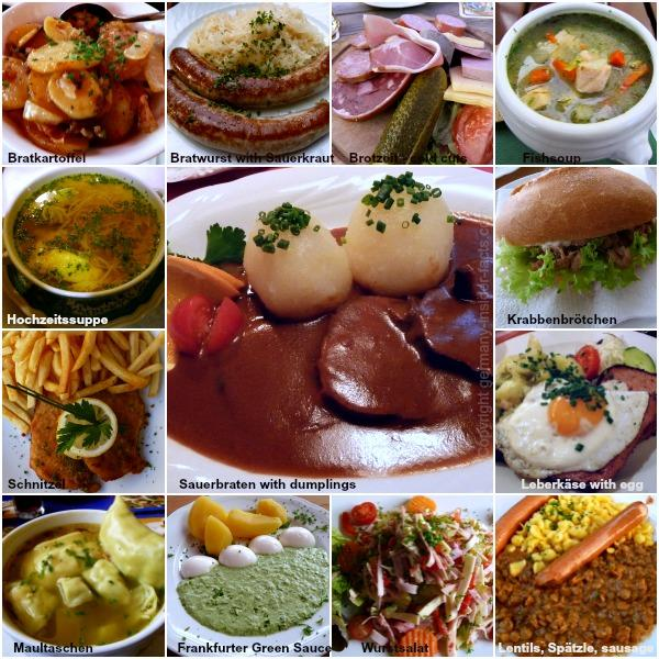 The wide variety of German foods