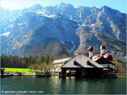 baroque church on a lake