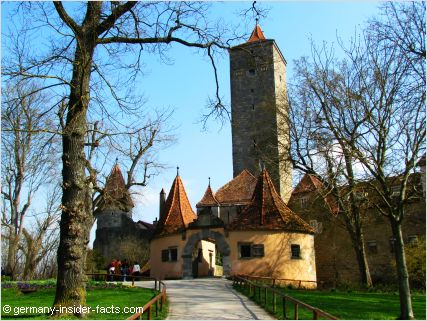 castle gate rothenburg