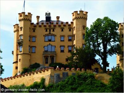 hohenschwangau castle detail