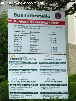 timetable for buses to neuschwanstein