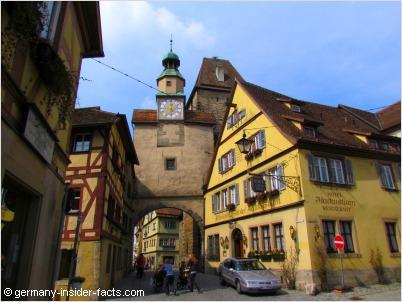 medieval scenery in rothenburg