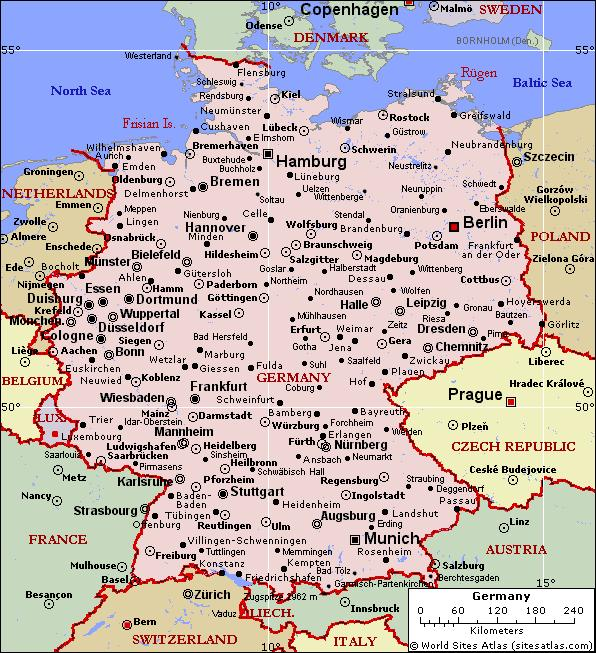 german map