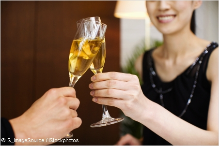 toast with sparkling wine