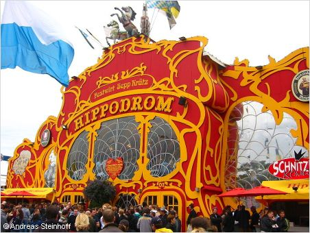 colourful hippodrom tent