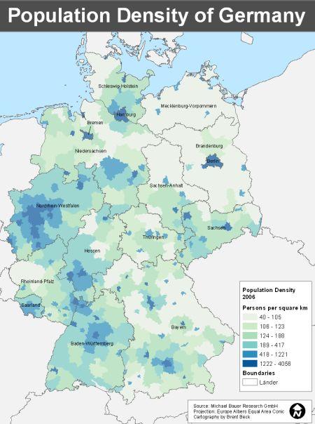 map of population densitiy
