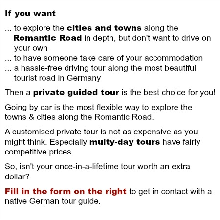 romantic road tour guide offer