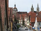 view of medieval lane in rothenburg