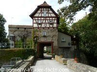 half-timbered gate house