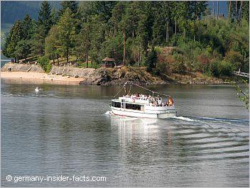 tourist boat on schluchsee