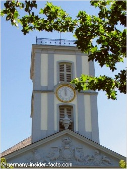 clock on a church spire