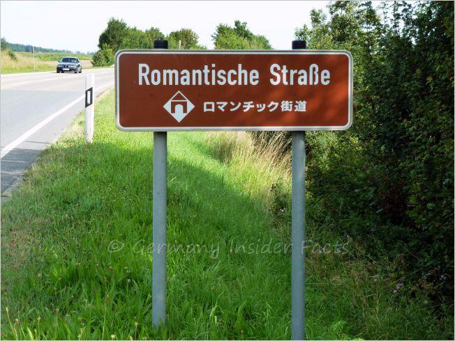 romantic road road sign