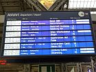announcement board at a train station