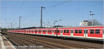 red s-bahn train