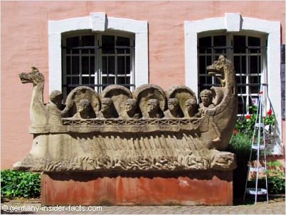 wineship made of stone
