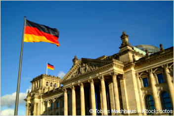 beautiful shot of the reichstag