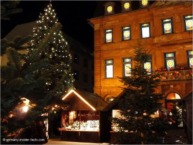 german christmas market at night