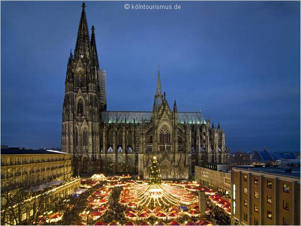 cologne christmas market cathedral