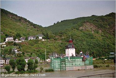 Burg Katz overlooking rhine valley